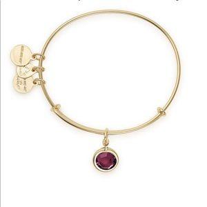 Alex and Ani Amethyst bangle bracelet